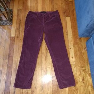 Calvin Klein Purple Corduroy Straight Fit Pants